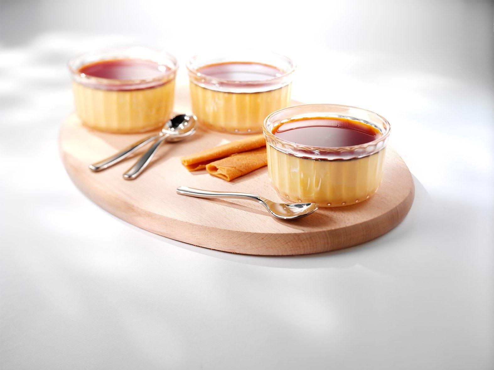 Vanilleflan met karamel