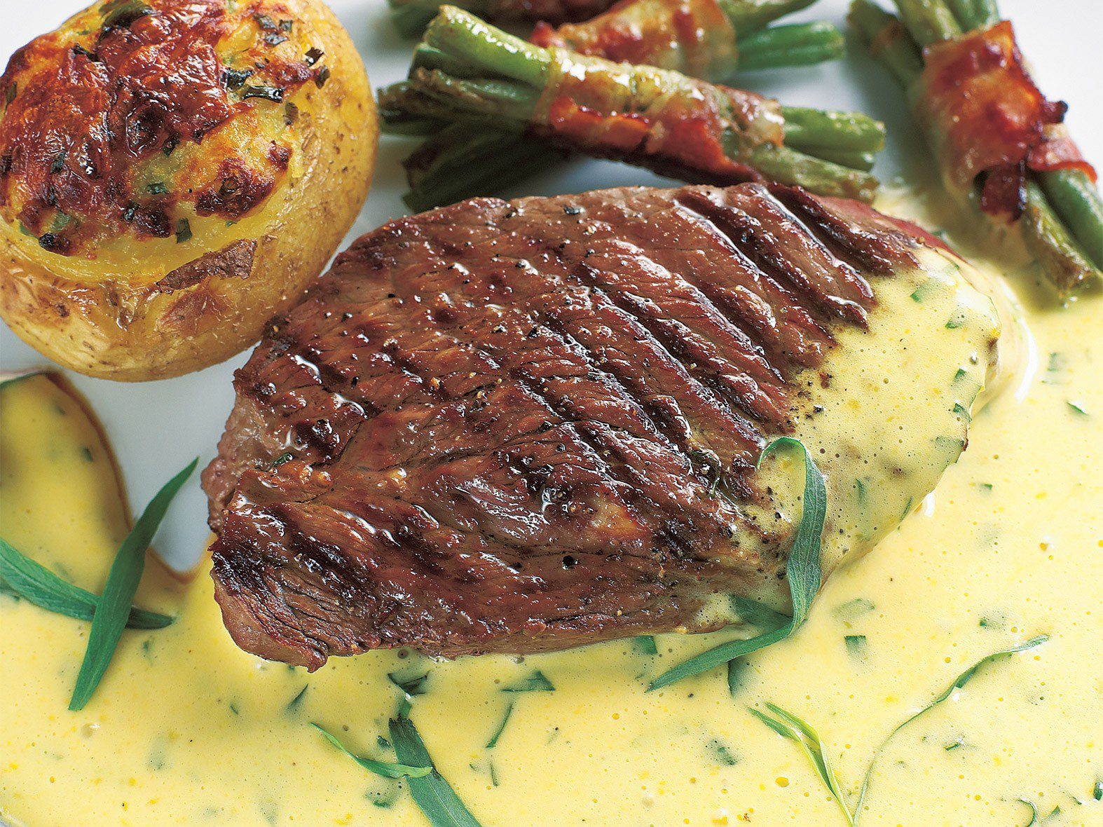 Steak met bearnaise roomsaus