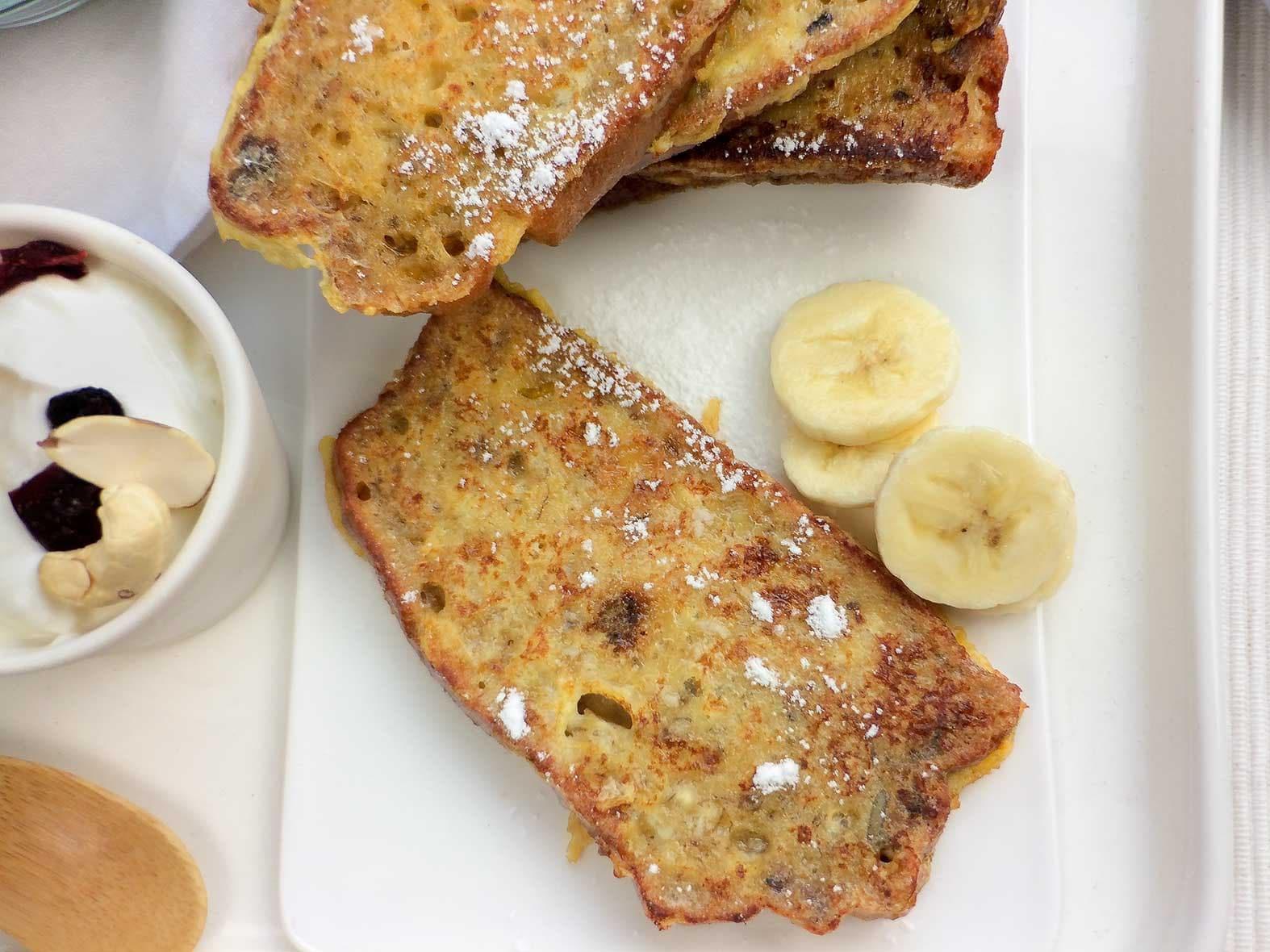 Wentelteefjes van bananenbrood