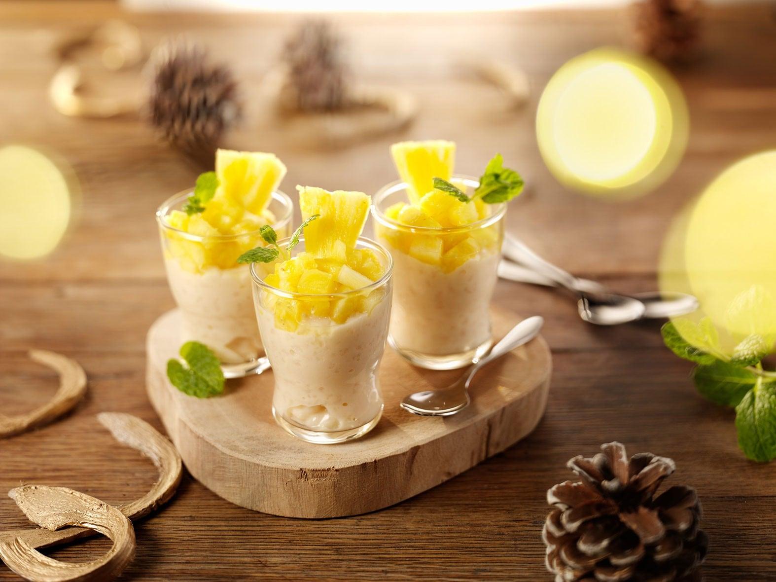 Rijstpap met ananas