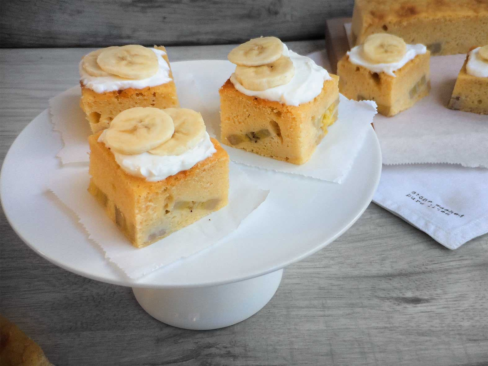 Bananenbrood 'blondies'