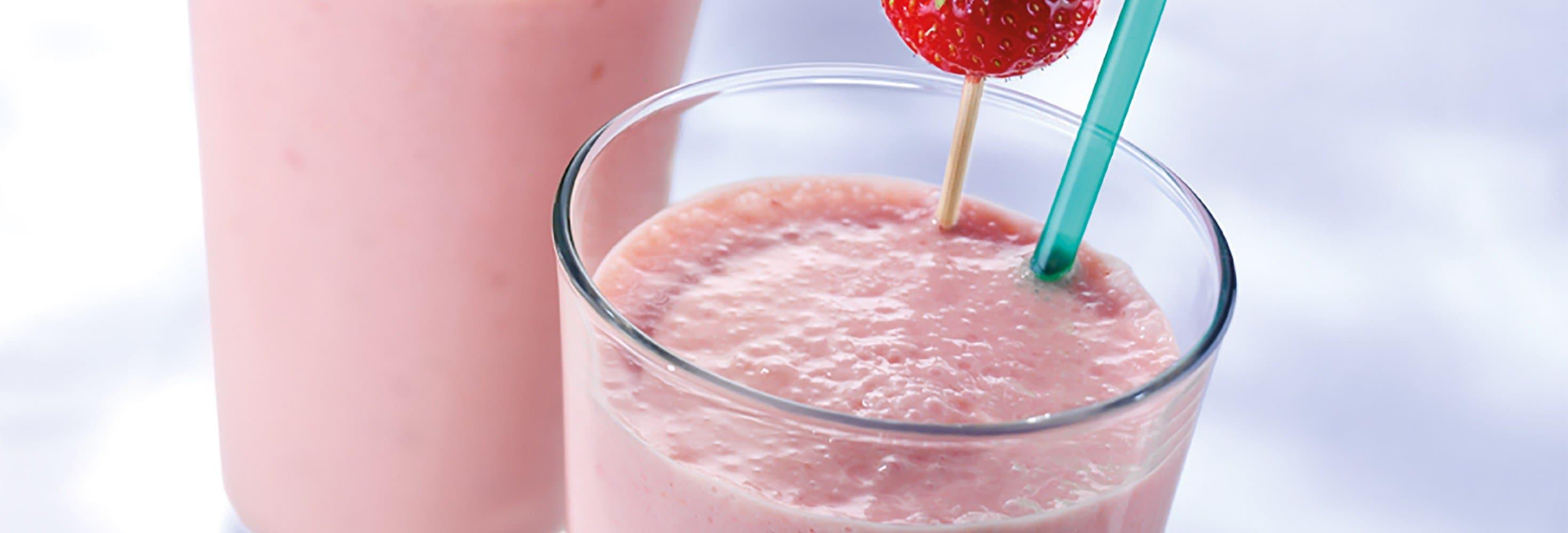 Milkshake met zomerfruit